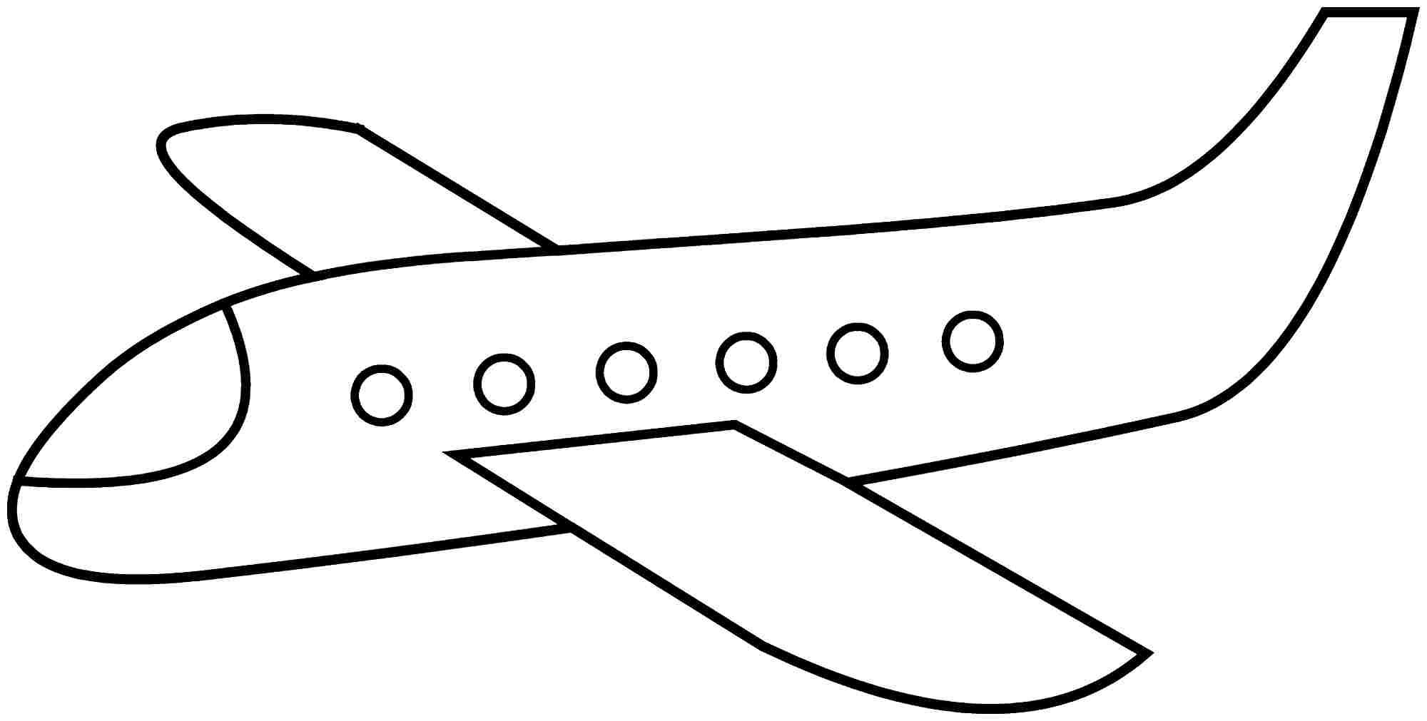 Simple Airplane Coloring Pages.