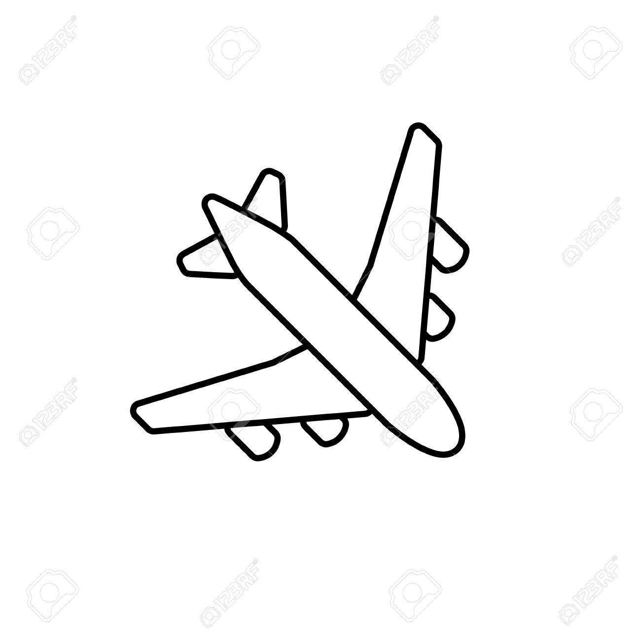 Simple Plane Clipart.