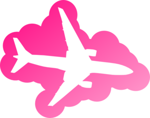 Pink Airplane Clip Art at Clker.com.