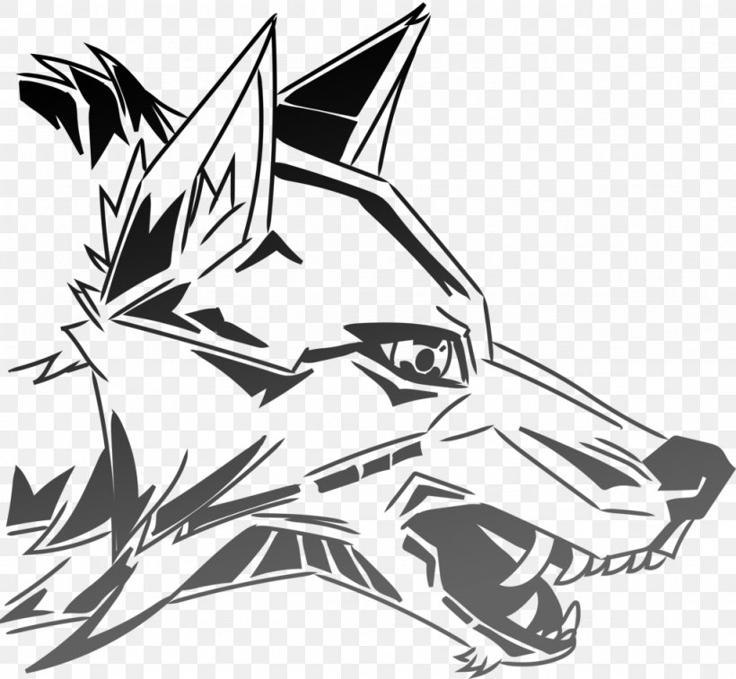 Gray Wolf Graffiti Drawing Art Sketch, PNG, 1024x946px, Gray.