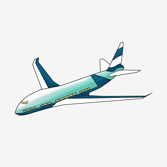 Blue Green Aircraft Passenger Plane, Blue Green Body, Green.