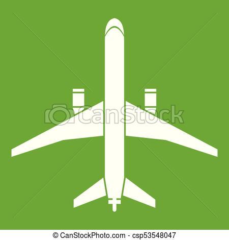 Plane icon green.