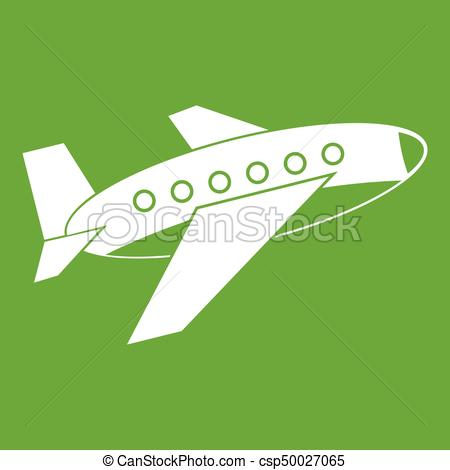 Airplane icon green.