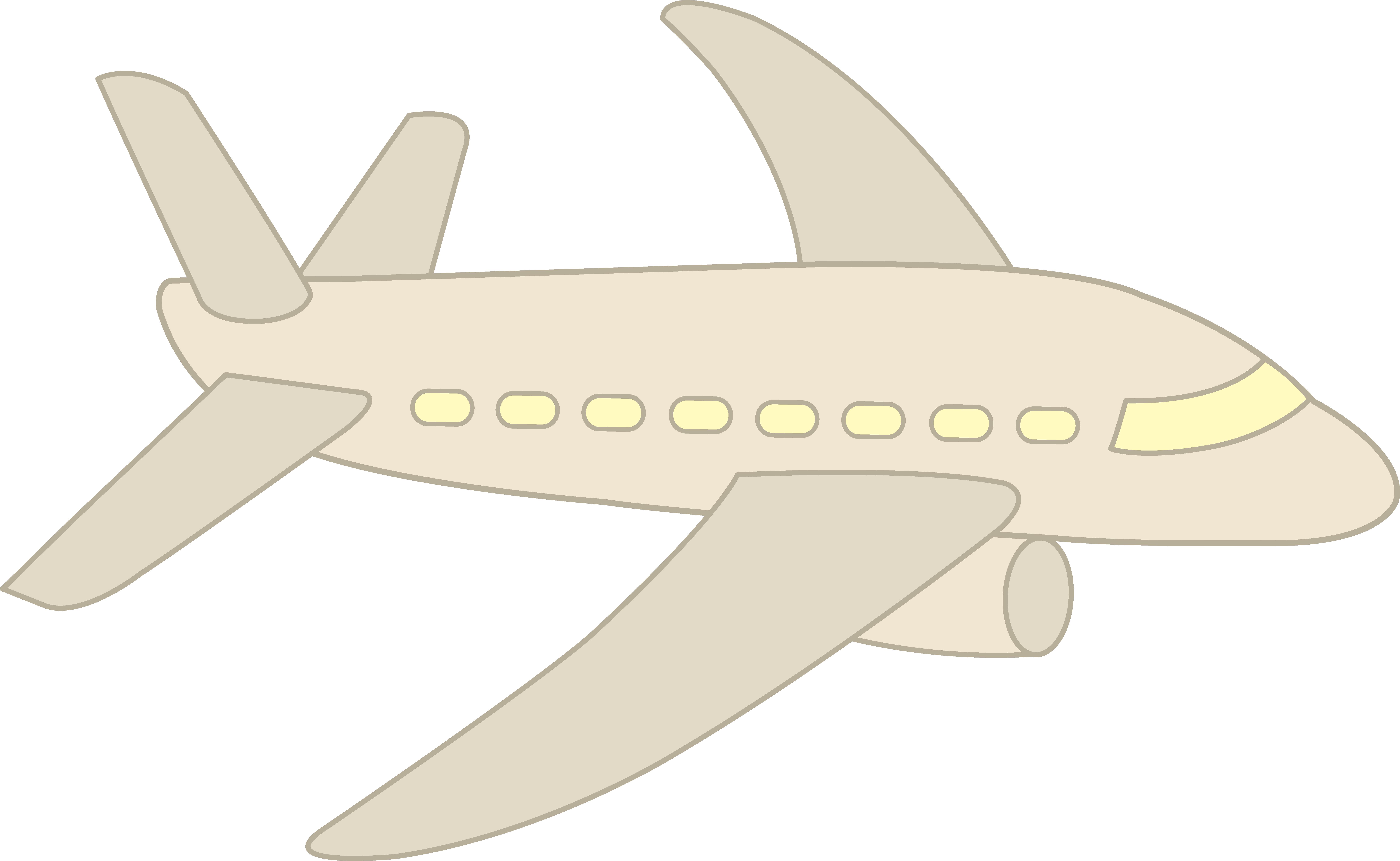 Simple Plane Clipart.