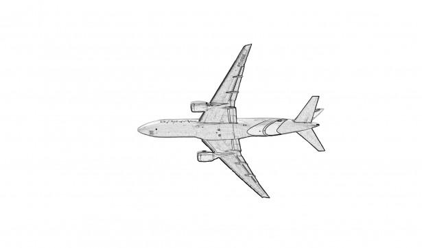 Airplane Clipart Illustration Free Stock Photo.