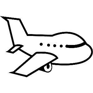 9300 Airplane free clipart.