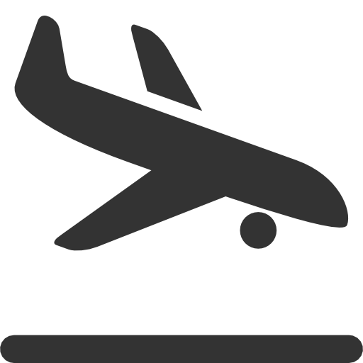 Airplane Landing Clipart.