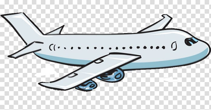 Blue and white airplane illustration, Airplane Cartoon.