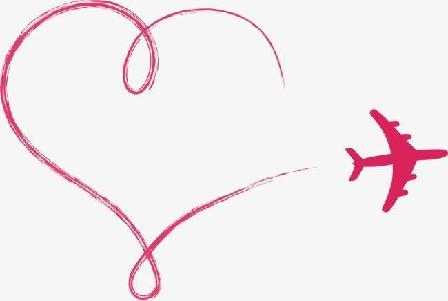 Vector Love Aircraft, Love Clipart, Aircraft, Cartoon.