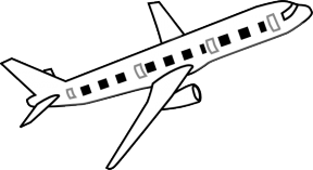 Free Airplane Clipart Transparent Background.