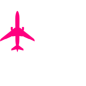Pink Plane Clipart.