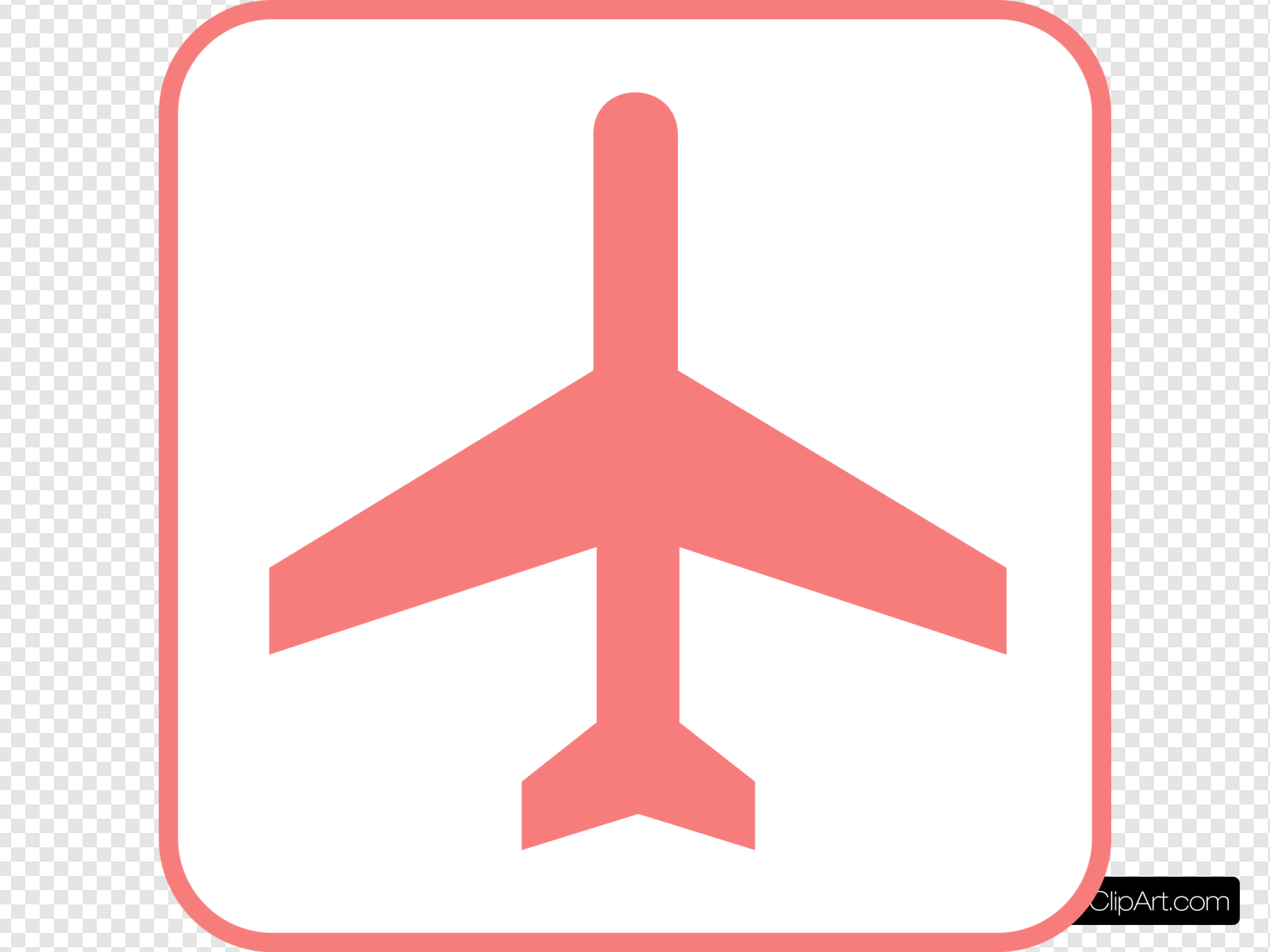 Pink Airplane Sign Clip art, Icon and SVG.