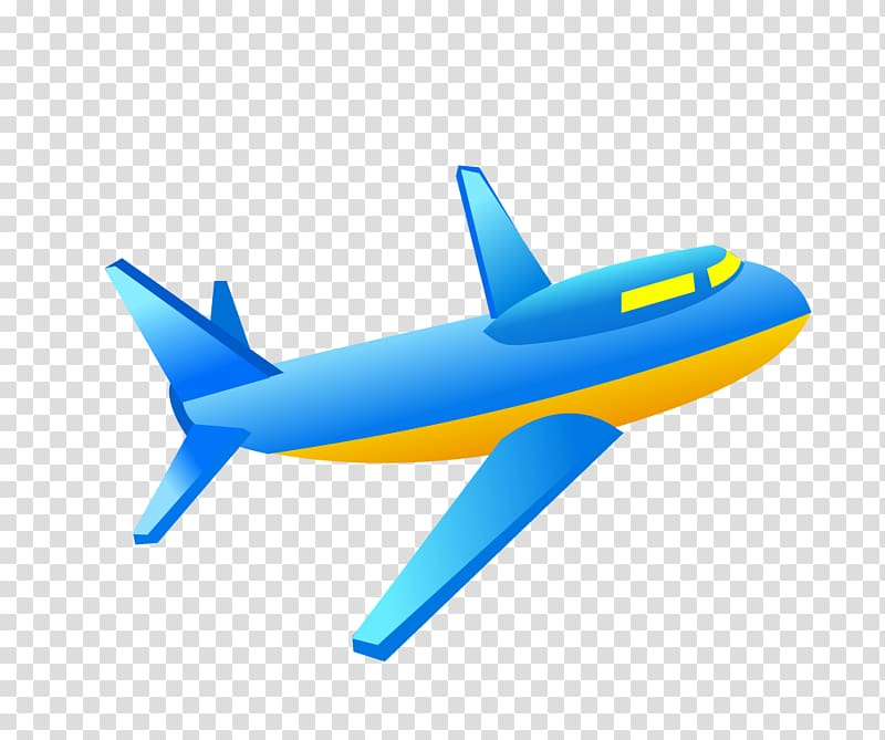 Airplane Aircraft Blue, Aircraft transparent background PNG.
