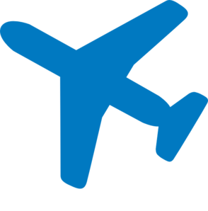 Red And Blue Airplane Clipart.