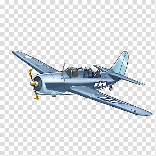Cartoon Airplane, Curtiss Sbc Helldiver, Douglas Sbd.