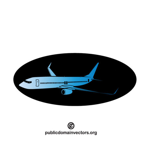 Vector clip art of an airplane.
