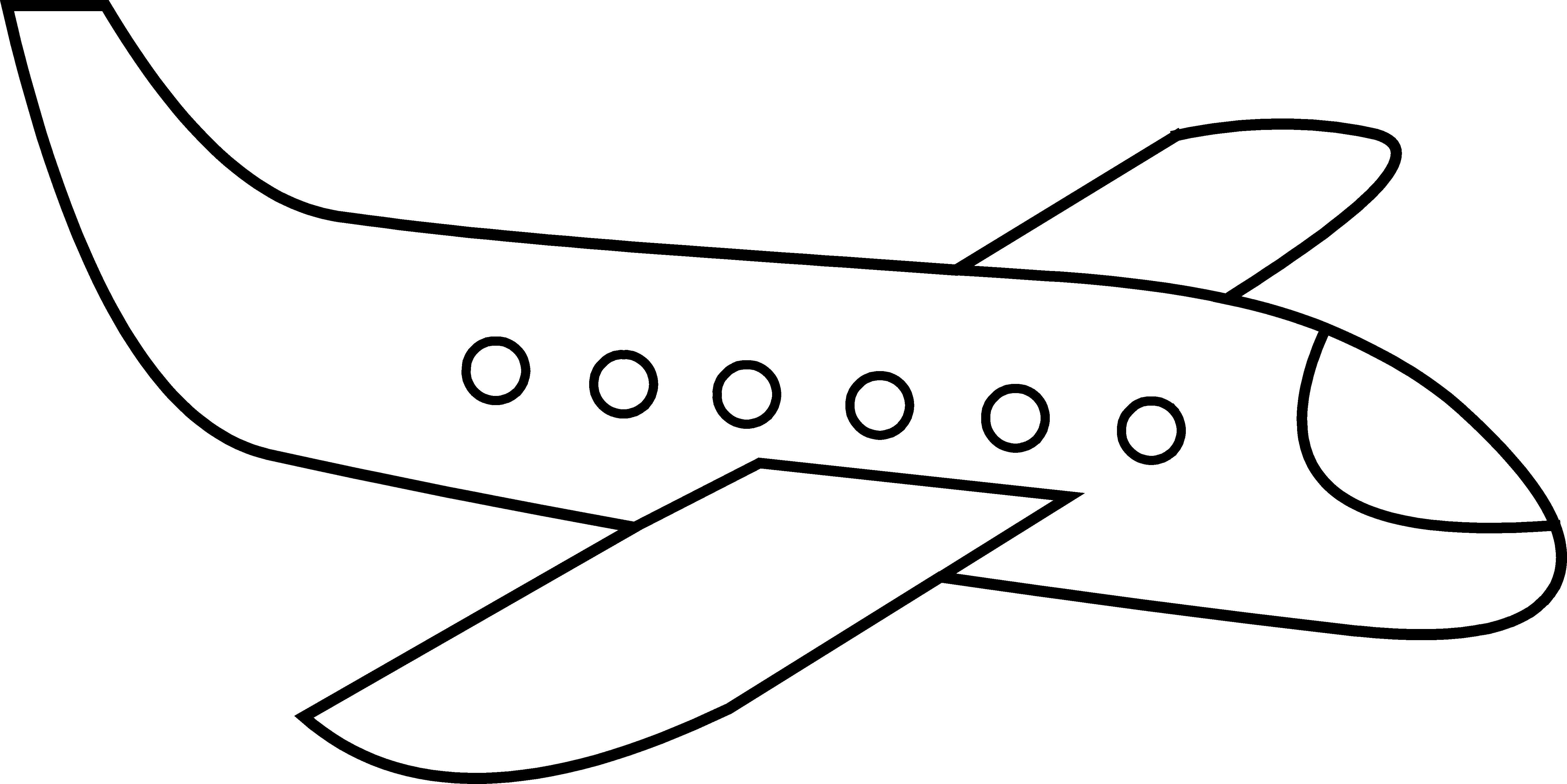 Free Airplane Clip Art Acoloring.