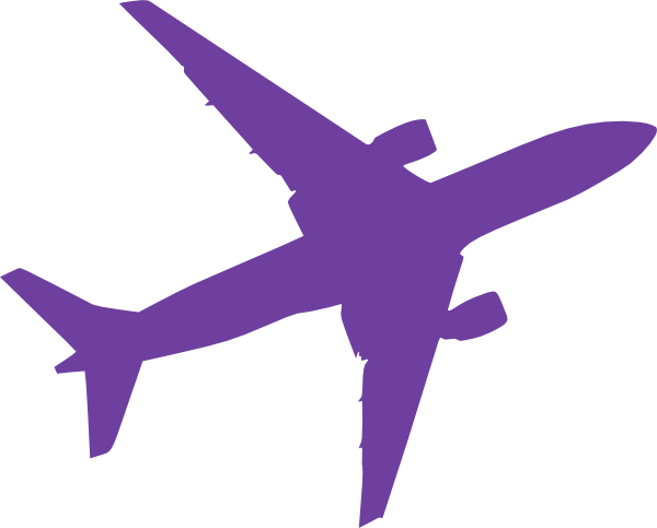 Small Purple Airplane Clip Art at Clker.com.