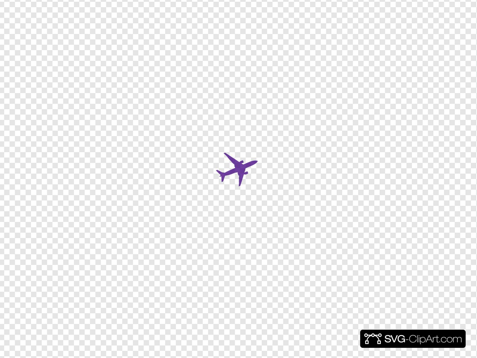 Small Purple Airplane Clip art, Icon and SVG.