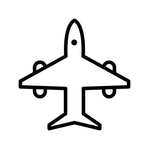 Vector Airplane Icon.