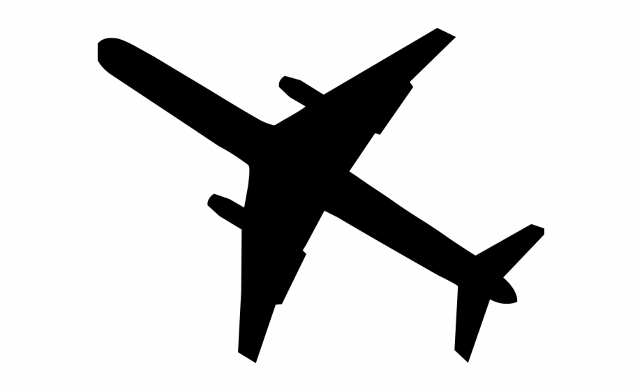 Transparent Airplane Clipart Black And White, Transparent Png.
