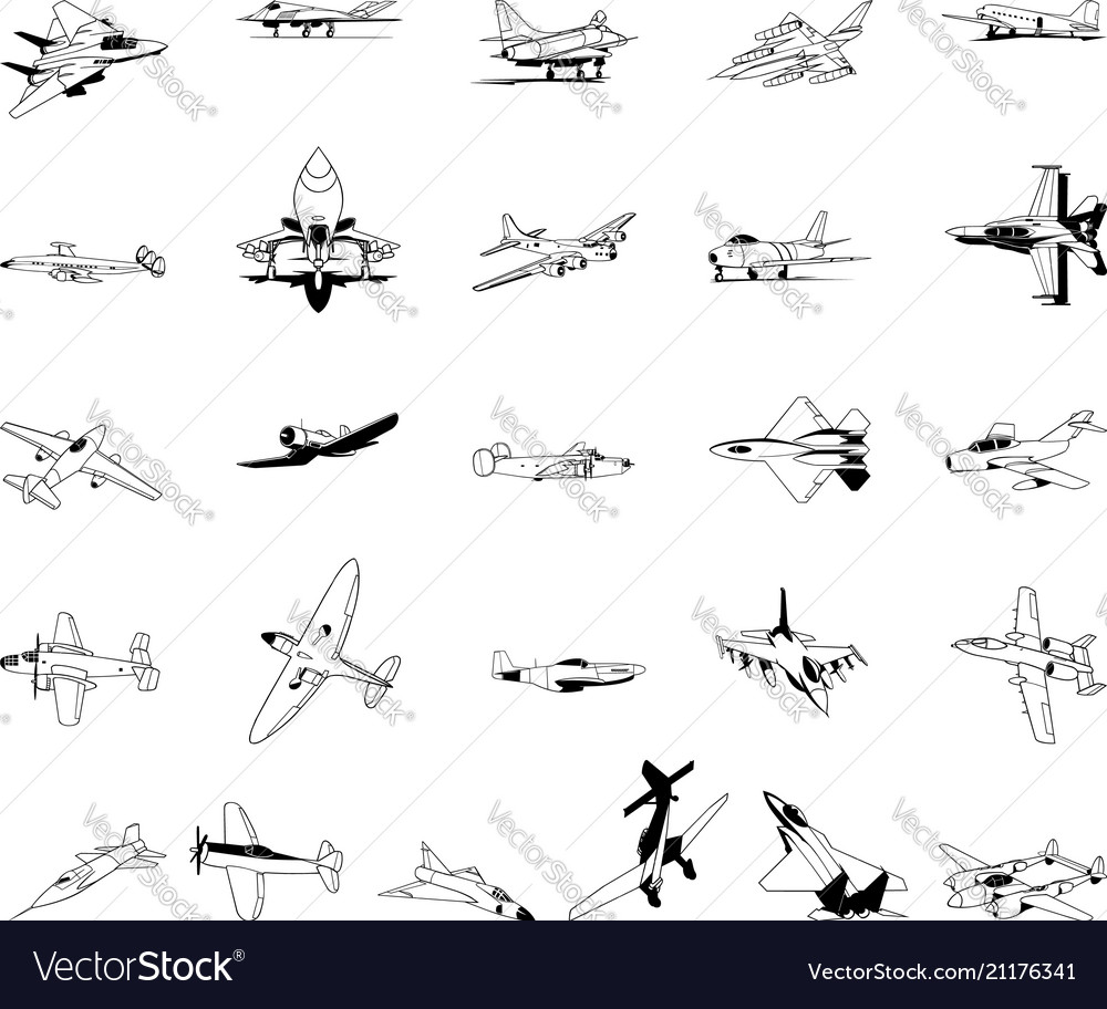 Airplane clipart collection set.