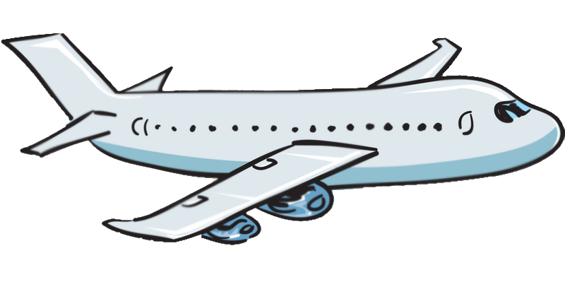 Airplane Clipart With Background.