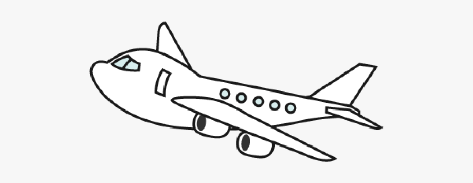 Airplane Clipart Black And White Png, Cliparts & Cartoons.