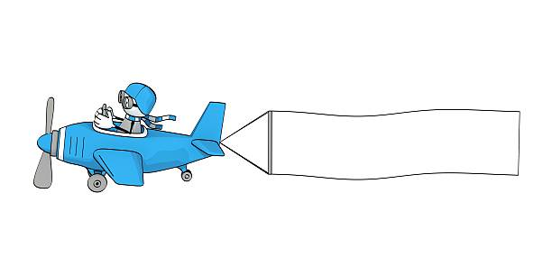 Airplane Clipart With Banner.