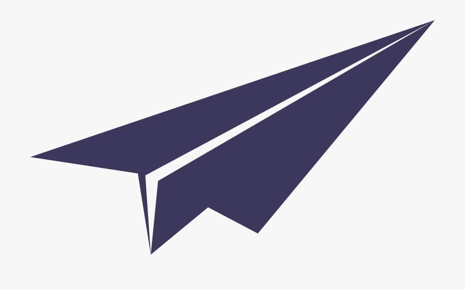 Paper Airplane Clipart Color.