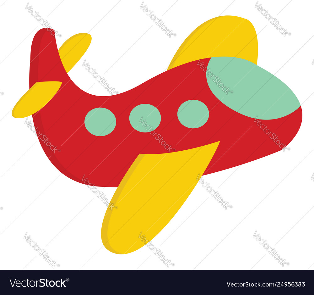 A cute little red airplane or color.