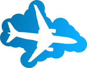 Plane In The Sky Clip Art at Clker.com.