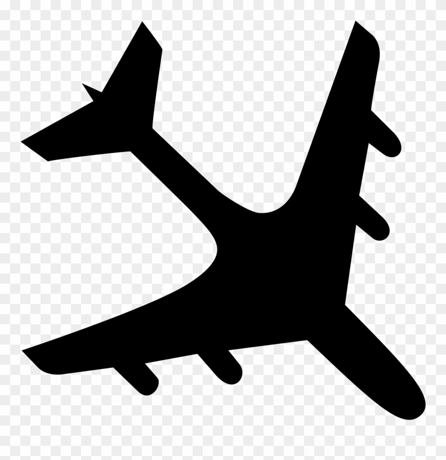 File Airplane Crash Black Svg Wikimedia Commons Plane.