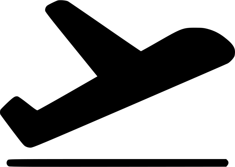 Take Off Airplane Aircraft Flight Departure Svg Png Icon.