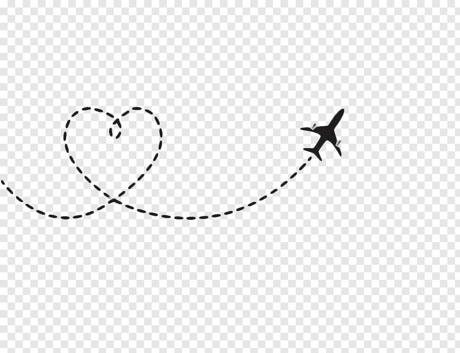 Airplane Flight Aircraft, Heart.
