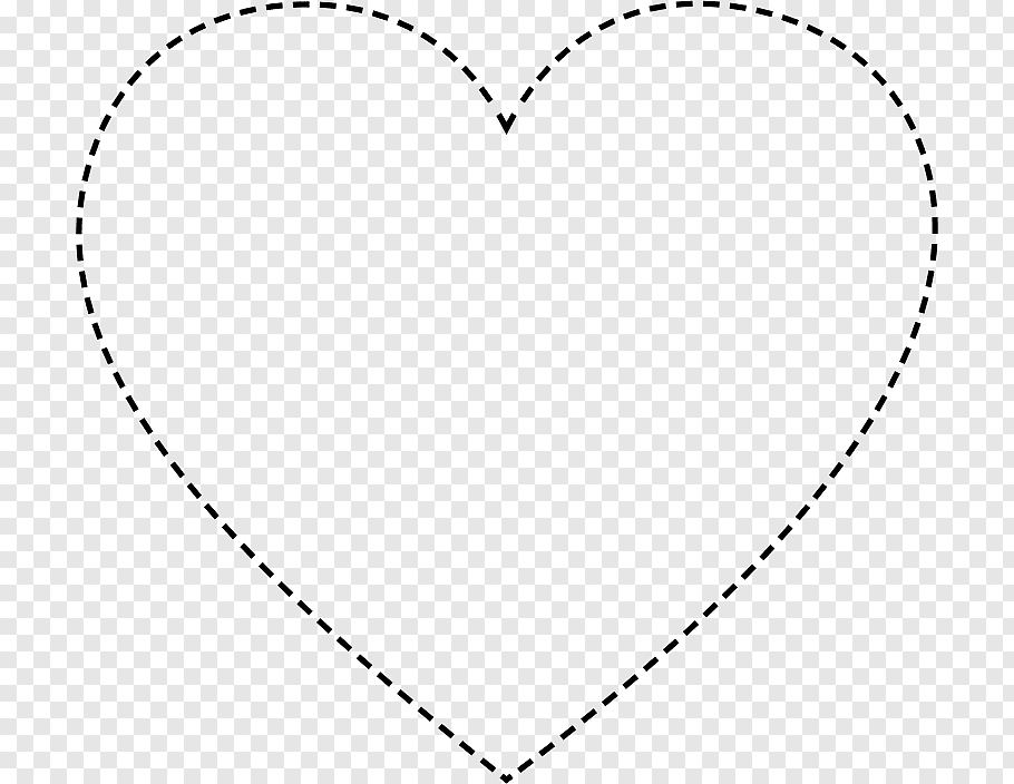 Heart Line art, dotted line free png.