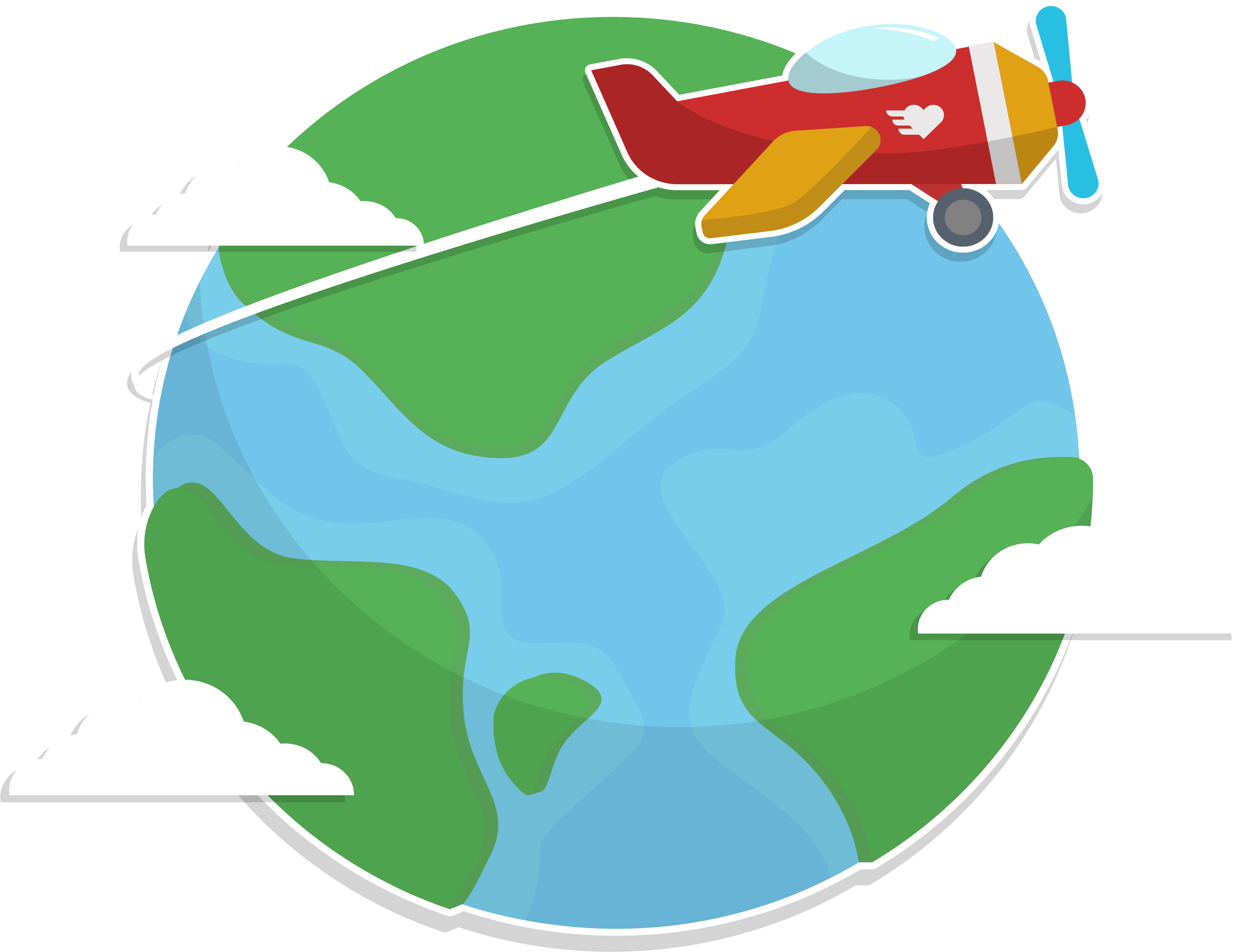 Earth clipart airplane, Earth airplane Transparent FREE for.