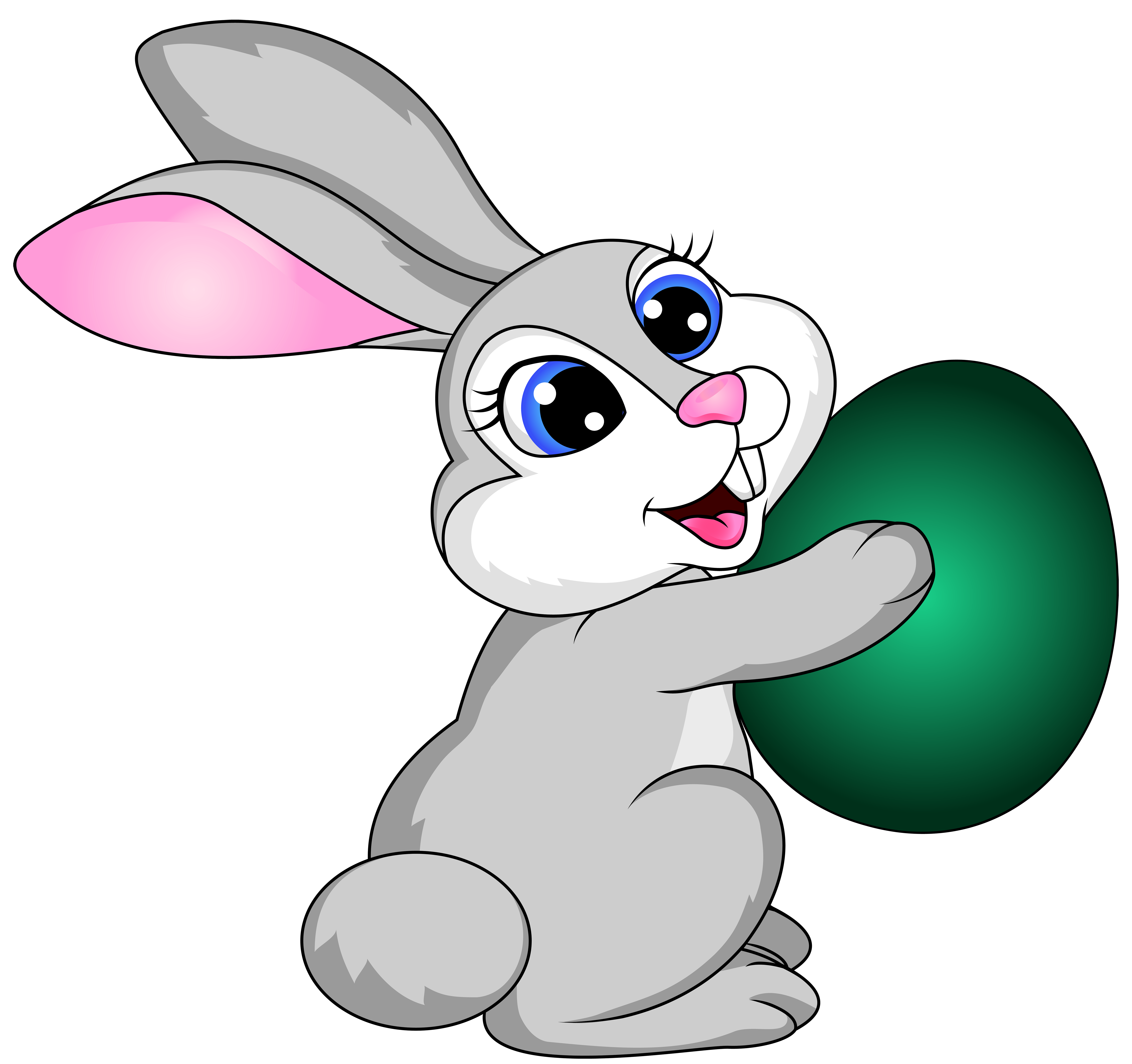 Airplane Easter Bunny Clipart.