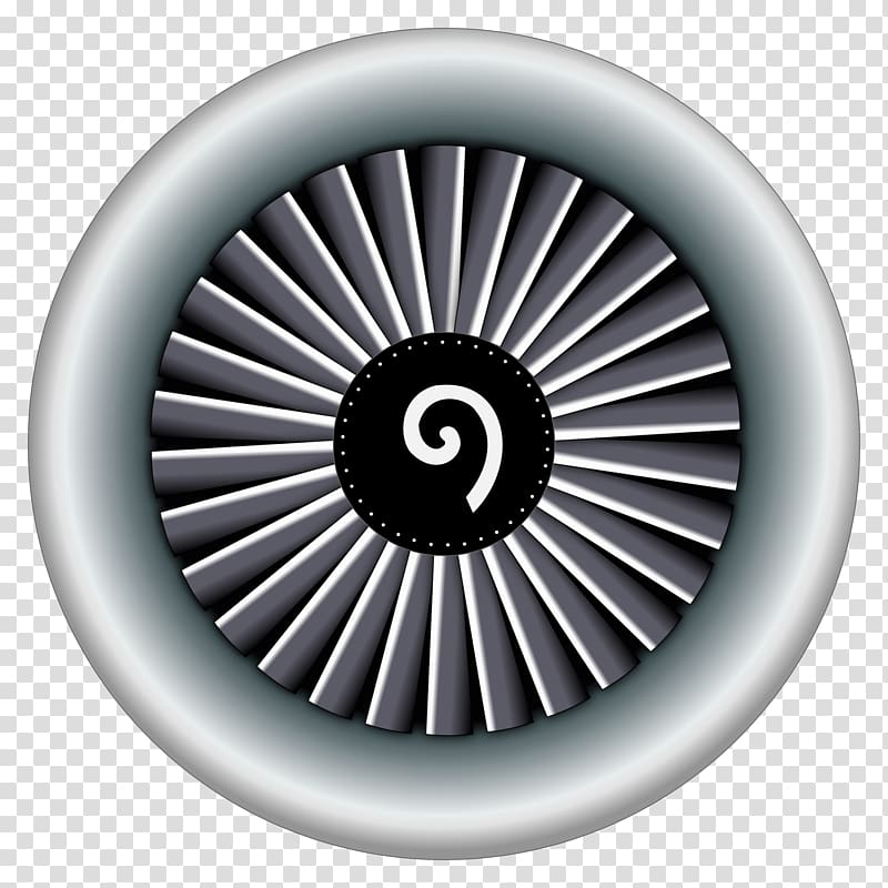 Airplane Aircraft Jet engine , engine transparent background.