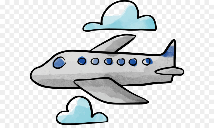 Clipart airplane watercolor, Clipart airplane watercolor.