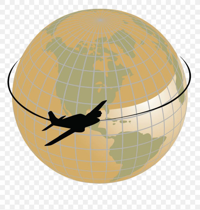 Airplane Flight Aircraft Globe Clip Art, PNG, 951x1000px.
