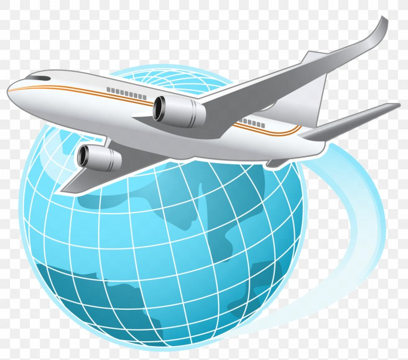 Airplane Flight Globe World Clip Art, PNG, 1144x1010px.
