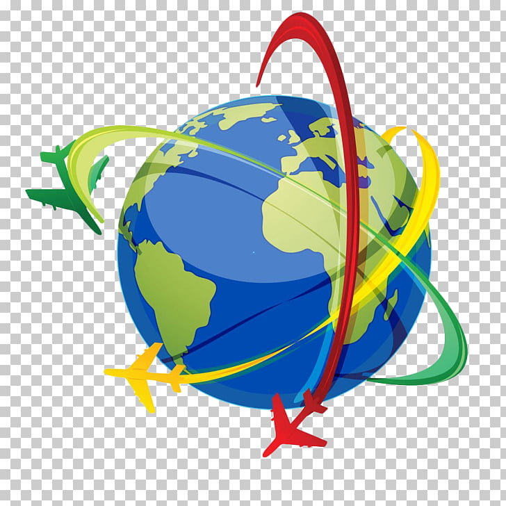 Airplane Computer Icons , Earth flying around the line PNG.