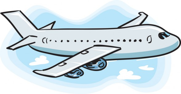 Plane flying away clipart.