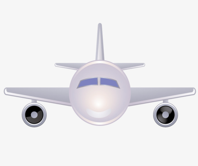 Airplane Clipart Front.