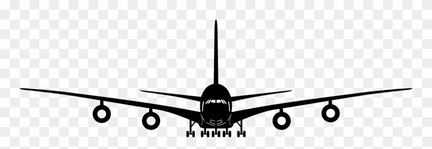 Clipart Plane Front.