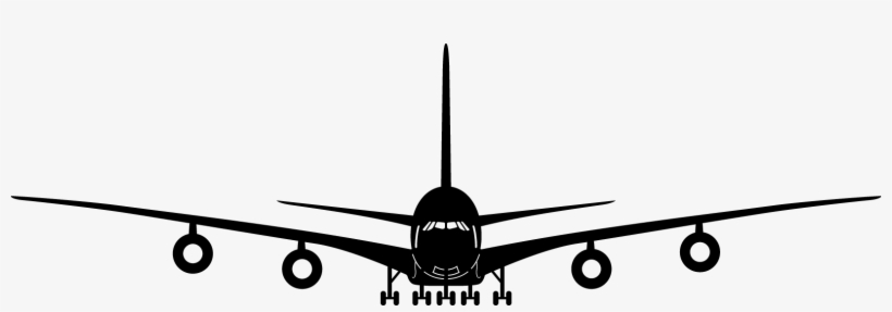 Black Airplane Front View Png Clipart Download Free.
