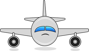 Airplane Front Clipart.