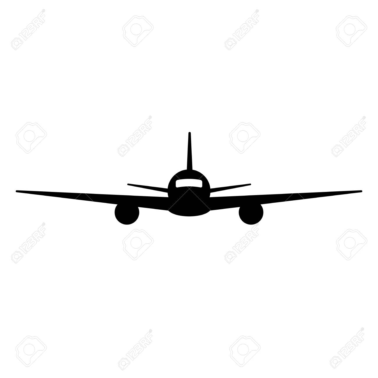 Plane Silhouette Front.