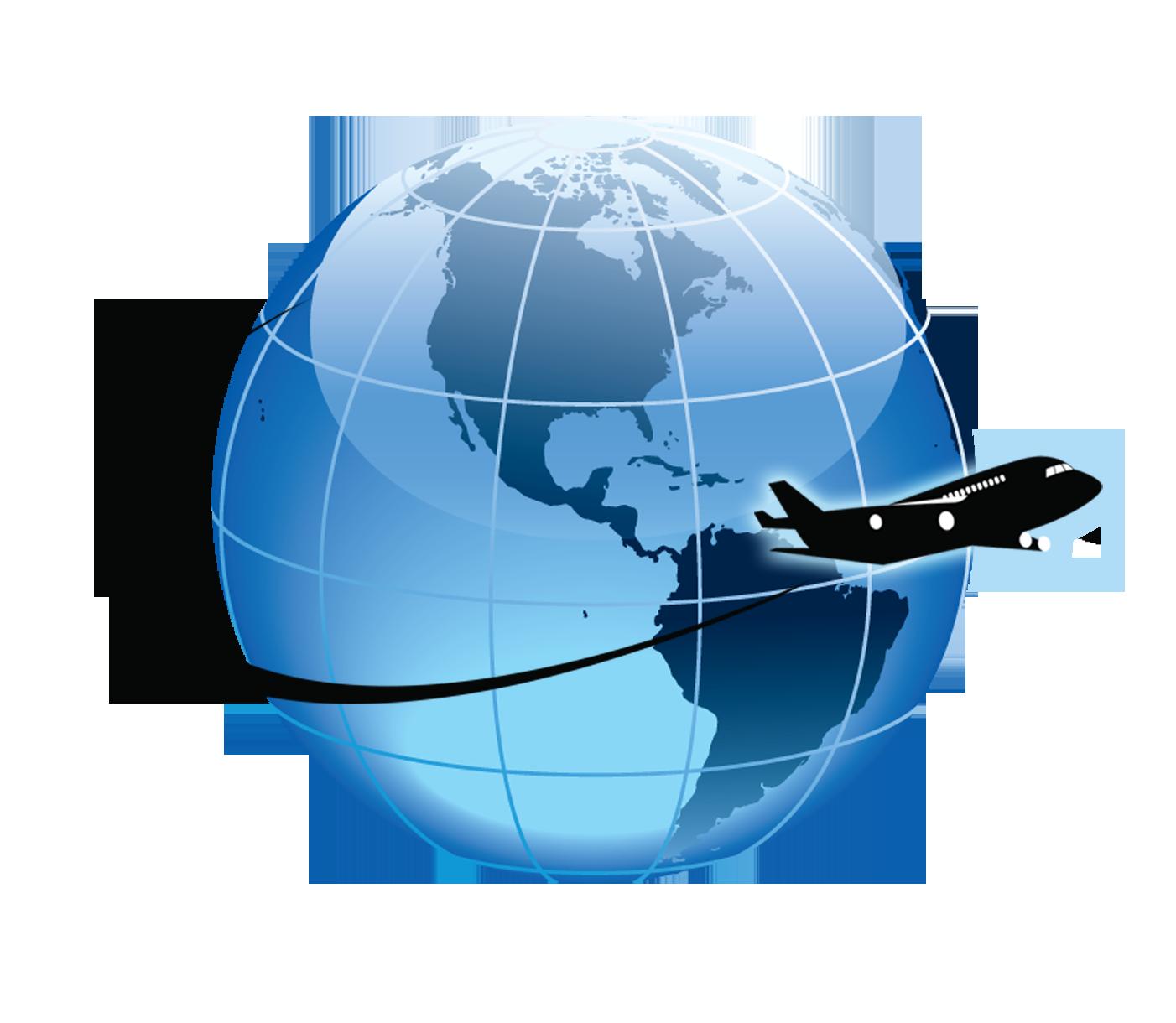 Globe clipart airplane, Globe airplane Transparent FREE for.